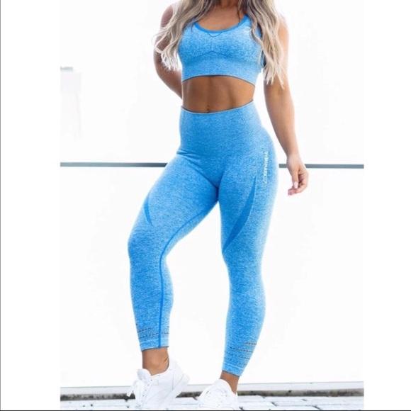 779762aff1c50d Gymshark Pants | Sold Original Seamless Set Blue Xs | Poshmark